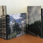 Cranes Over Europe, 2016  Three-layered digital prints mounted on museum board  accordion artist's book, 40 x 10.5 inches open