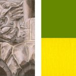 Statuesque - 2007, oil on panel (diptych), 2 x 3 inches each panel