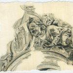 Munich Intervention VII – 2011, oil on paper, 6.75 x 6 inches