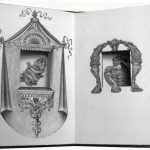 Reptiles - 1995, 9 x 6 inches, edition of 24. Accordion book consisting of lithographs, that offer variations on framing devices for the two end images, through hand-cut windows.