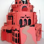 Tower of Babel, 2000, 11 inches in diameter x 11 inches, cover stock, styrofoam. View 1